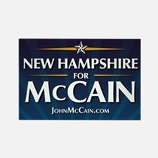 New Hampshire for McCain Rectangle Magnet