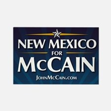 New Mexico for McCain Rectangle Magnet