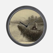 Fly Fishing Art Wall Clock