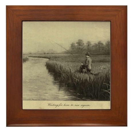 Fly Fishing Art Framed Tile