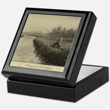Fly Fishing Art Keepsake Box