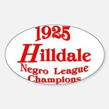 Hilldale Champions Oval Decal