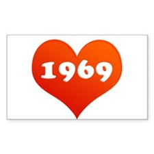 My Heart loves 1969 Rectangle Decal