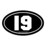 #19 Euro Bumper Oval Sticker -Black