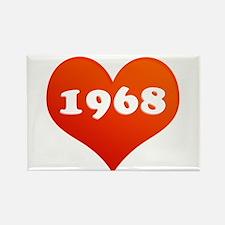 My Heart loves 1968 Rectangle Magnet