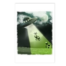 Comical Cow Abduction Postcards (Package of 8)