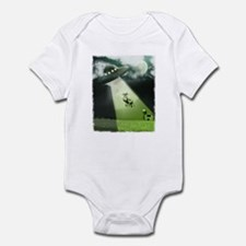 Comical Cow Abduction Infant Bodysuit