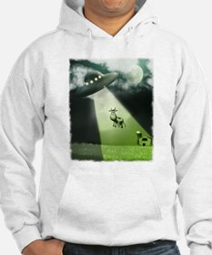 Comical Cow Abduction Hoodie