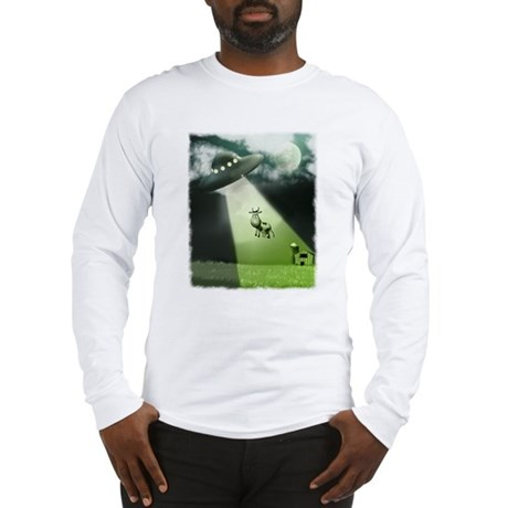 Comical Cow Abduction Long Sleeve T-Shirt