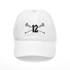 Lacrosse Number 12 Baseball Cap