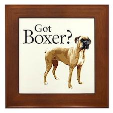 Got Boxer? Framed Tile