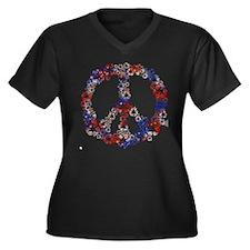 Patriotic Recycle Peace Women's Plus Size V-Neck D