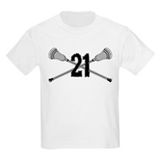 Lacrosse Number 21 T-Shirt