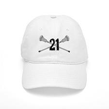 Lacrosse Number 21 Baseball Cap