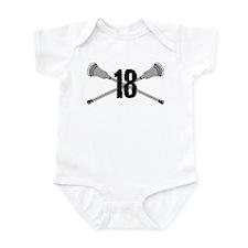 Lacrosse Number 18 Infant Bodysuit