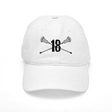 Lacrosse Number 18 Baseball Cap