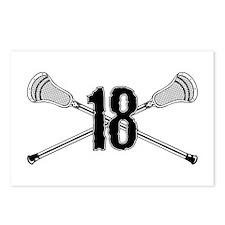 Lacrosse Number 18 Postcards (Package of 8)