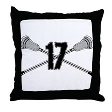Lacrosse Number 17 Throw Pillow