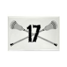 Lacrosse Number 17 Rectangle Magnet