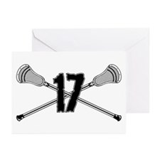 Lacrosse Number 17 Greeting Cards (Pk of 10)