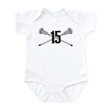 Lacrosse Number 15 Infant Bodysuit