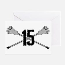 Lacrosse Number 15 Greeting Card