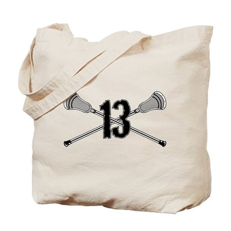 Lacrosse Number 13 Tote Bag