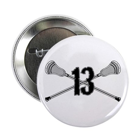"Lacrosse Number 13 2.25"" Button"