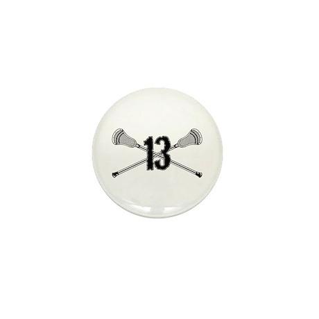 Lacrosse Number 13 Mini Button