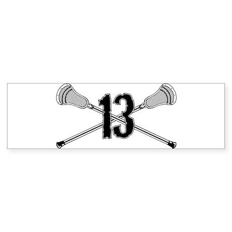 Lacrosse Number 13 Bumper Sticker