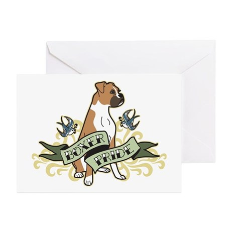 Boxer Tattoo Greeting Cards (Pk of 20)