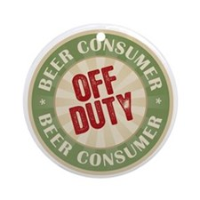 Off Duty Beer Consumer Ornament (Round)