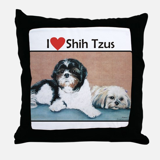 I love Shih Tzus Throw Pillow