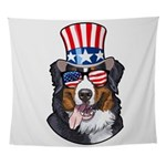 Heart America Flag Small Pet Bowl