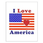 Heart America Flag Small Poster