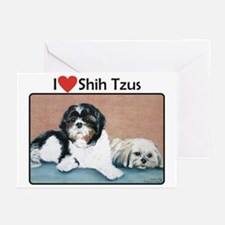 I heart Shih Tzus Greeting Cards (Pk of 10)