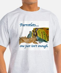 Parrotlets...one isn't.. Blue Ash Grey T-Shirt