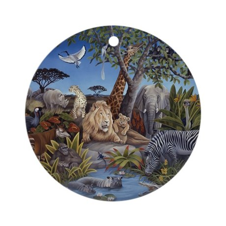 Peaceable Kingdom Ornament (Round)