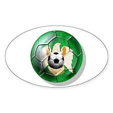 Libya football ball Oval Decal