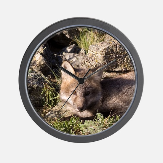 Cross Fox Kit Wall Clock