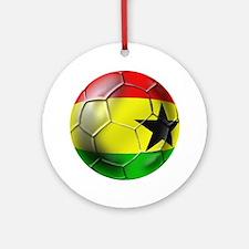 Ghana Football Ornament (Round)