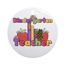 Kindergarten Teacher Ornament (Round)