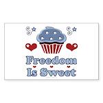 Freedom Is Sweet Americana Rectangle Sticker