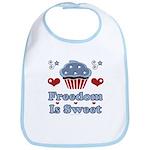 Freedom Is Sweet Americana Bib