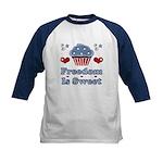 Freedom Is Sweet Americana Kids Baseball Jersey