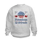 Freedom Is Sweet Americana Kids Sweatshirt