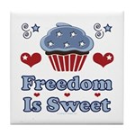 Freedom Is Sweet Americana Tile Coaster