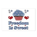 Freedom Is Sweet Americana Postcards (Package of 8