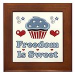 Freedom Is Sweet Americana Framed Tile