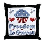 Freedom Is Sweet Americana Throw Pillow